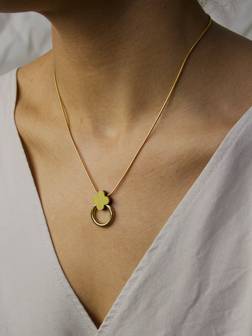 Elsa Necklace in Chartreuse