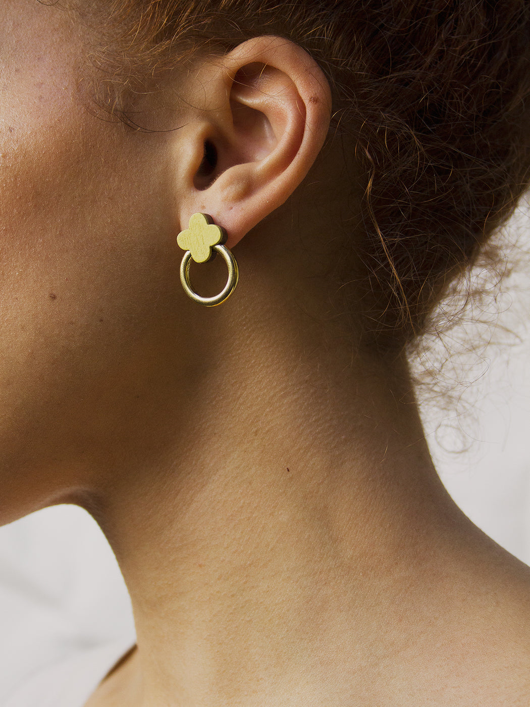Elsa Studs in Chartreuse