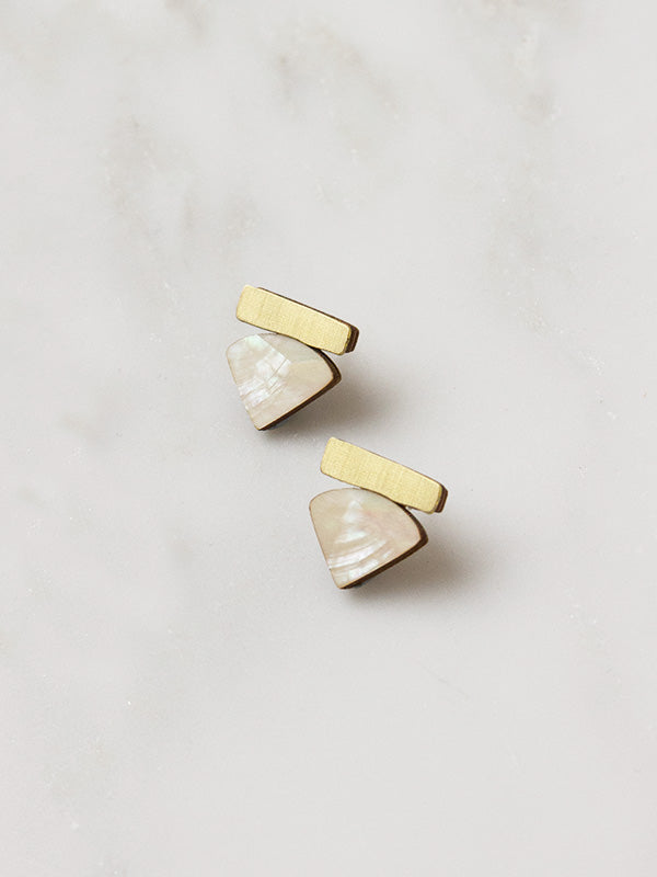 Fade Studs in Mother of Pearl
