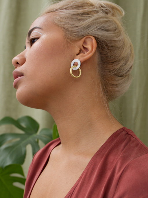 Isla Earrings in Eggshell
