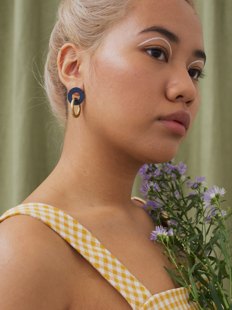 Isla Earrings in Midnight Blue