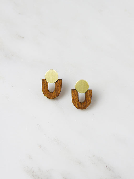 Wood Jean Studs by Wolf & Moon