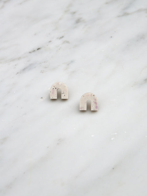 Sanna Studs in Natural Jesmonite
