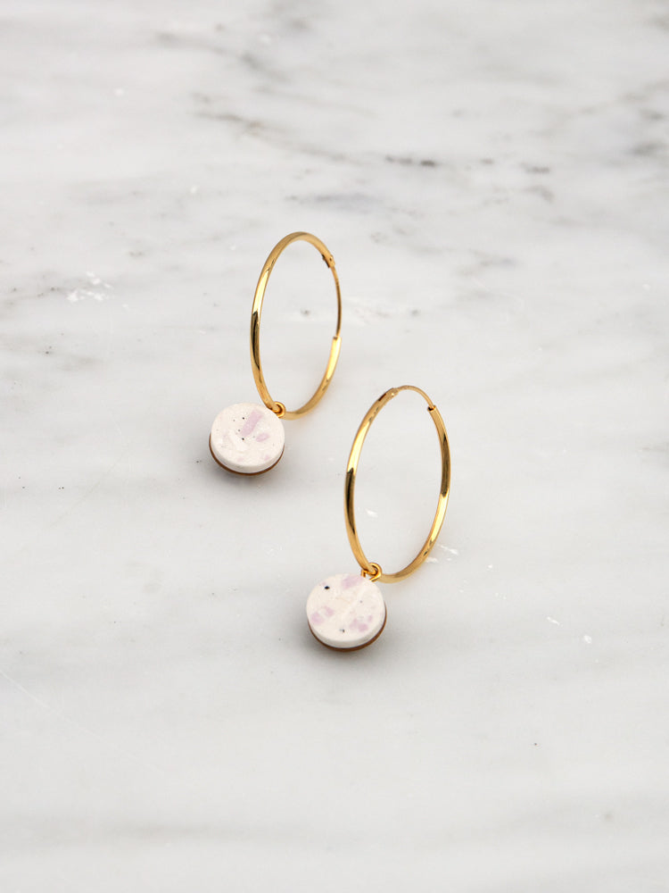 Malin Hoops in Natural Jesmonite