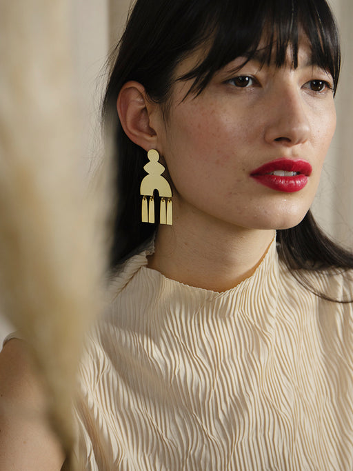 Kala Earrings in Brass