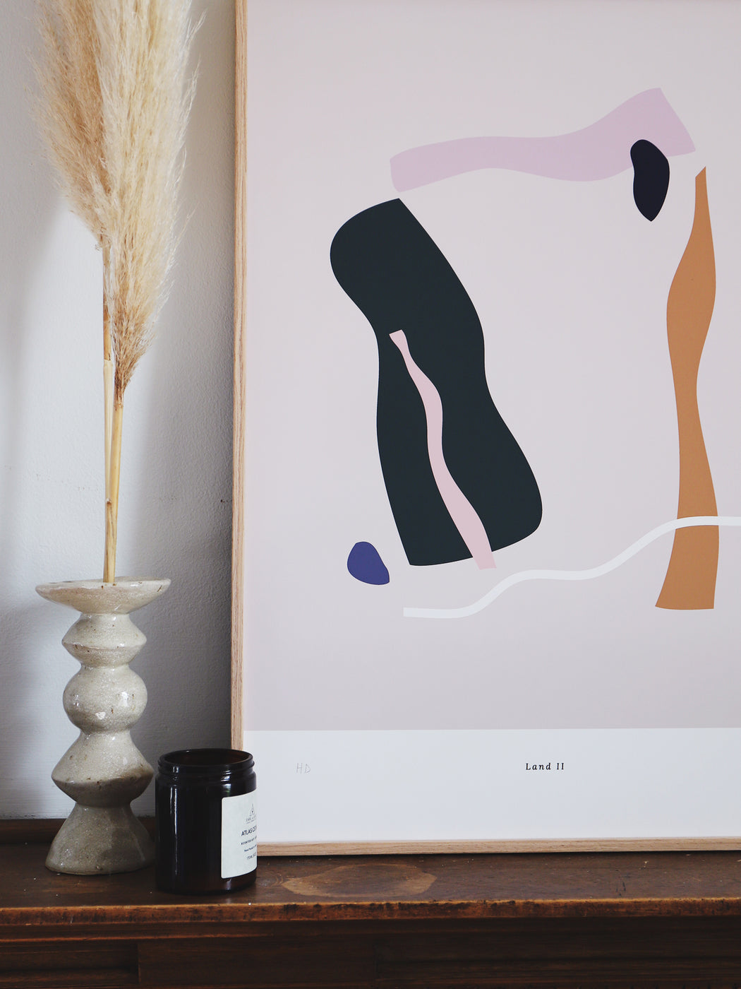 High quality giclée fine art print on 210gsm smooth matt paper.  Abstract print with a design inspired by landscapes and topography.
