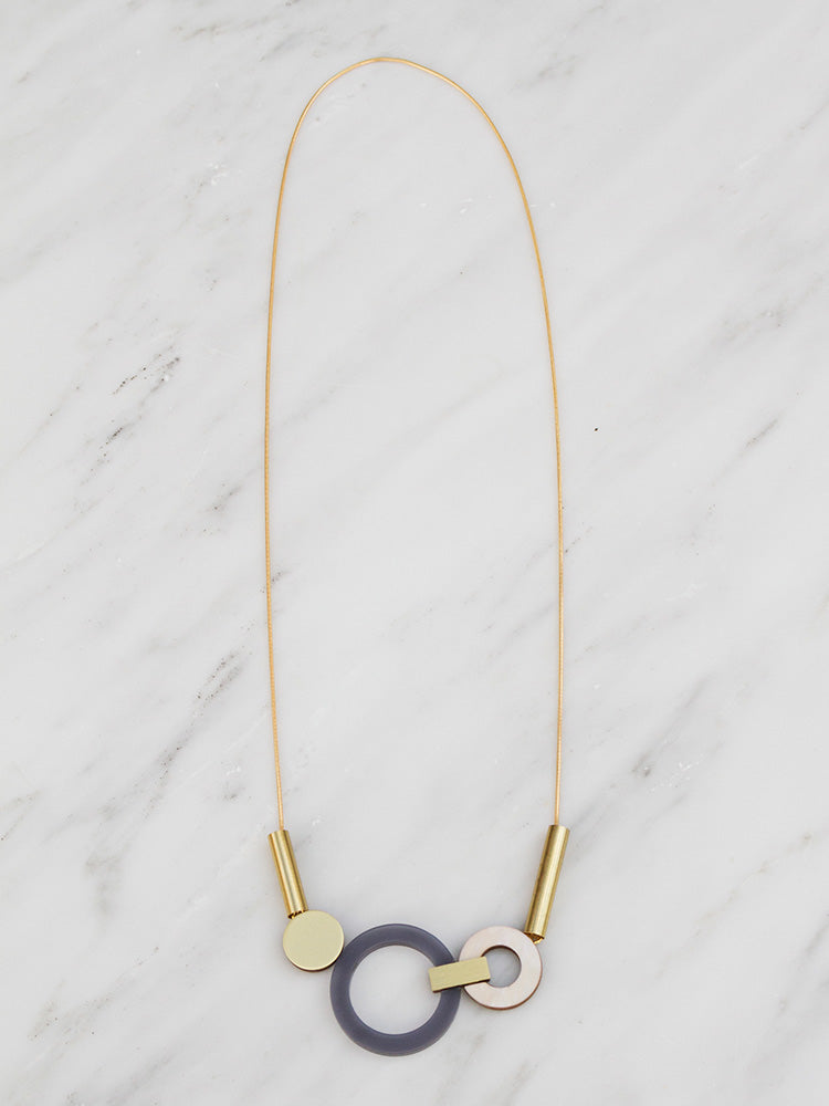 Lora Necklace in Navy