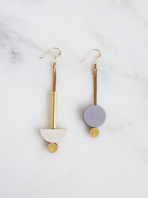 Luna Drop Earrings in Ecru