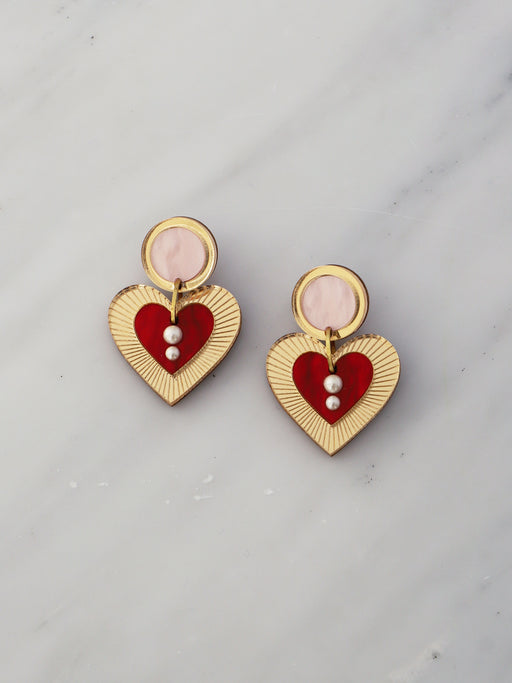 Lyra Earrings in Pink/Red *Limited Edition*