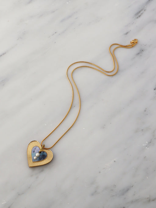 Lyra Necklace in Blue Mother of Pearl *Limited Edition*