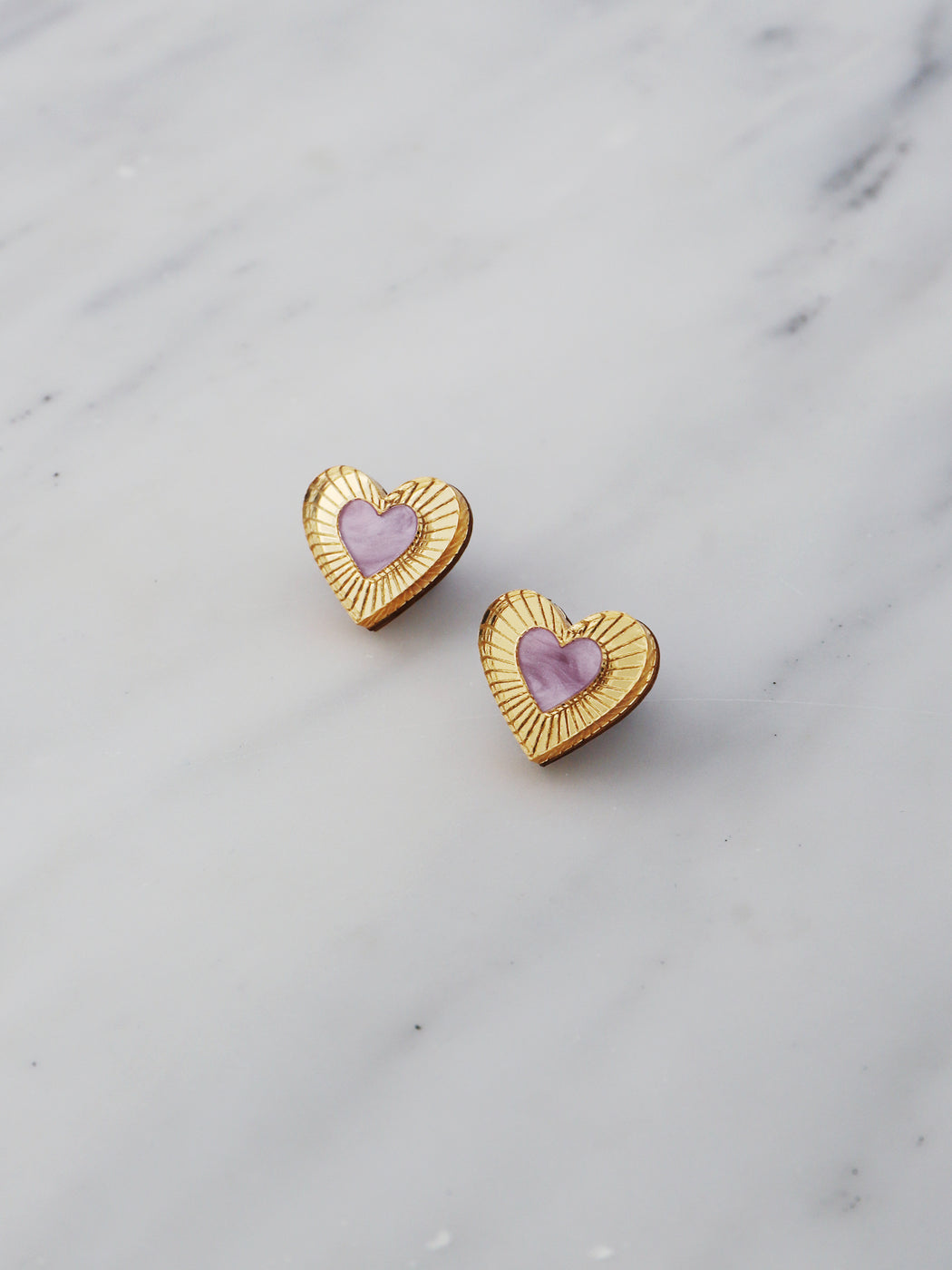 Mini Lyra Studs in Lilac *Limited Edition*