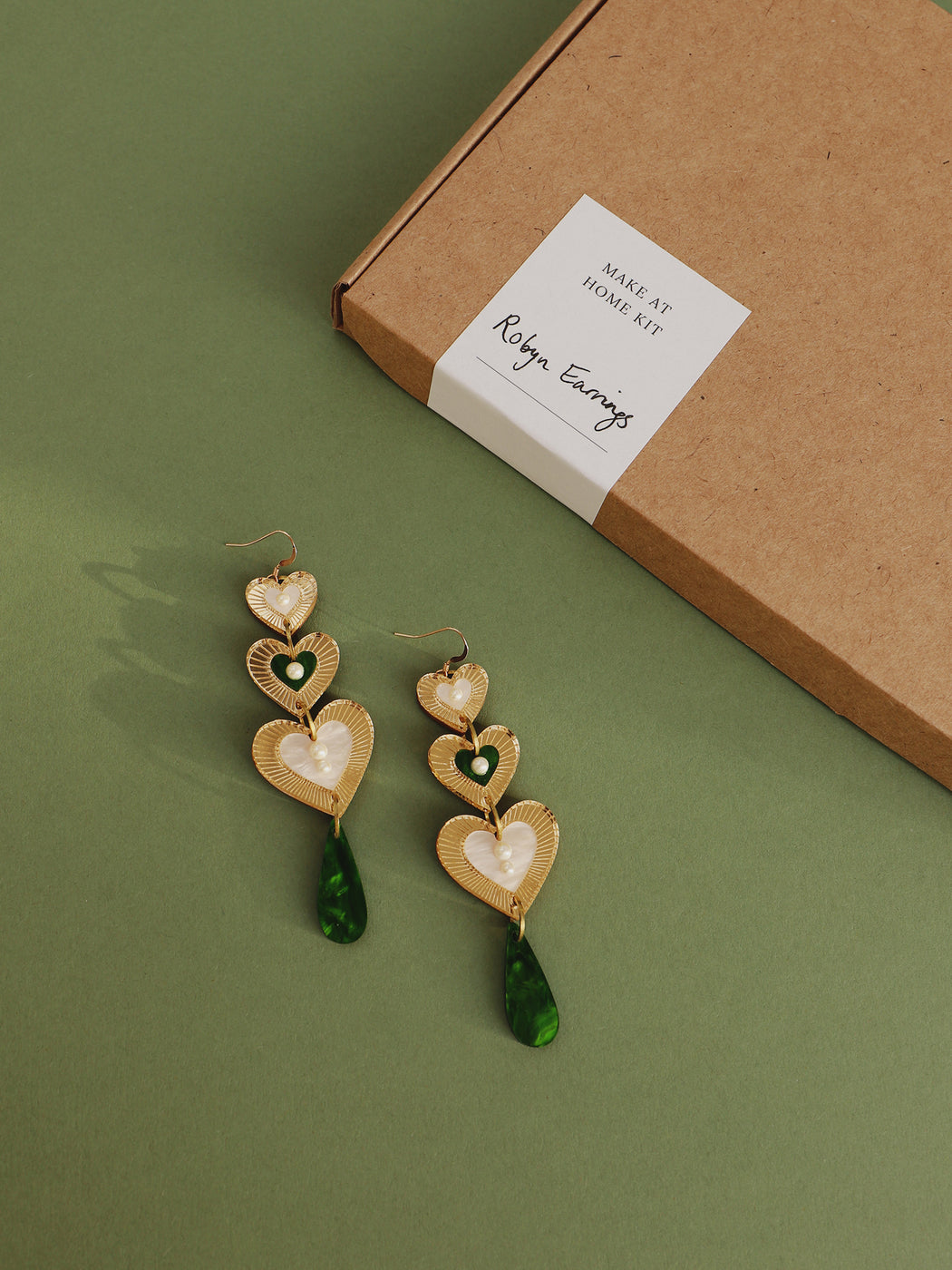 Make at Home Kit - Robyn Statement Earrings in Emerald