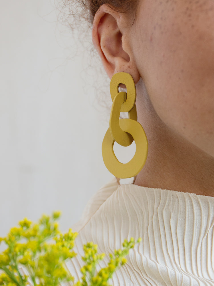 Margot Earrings in Chartreuse