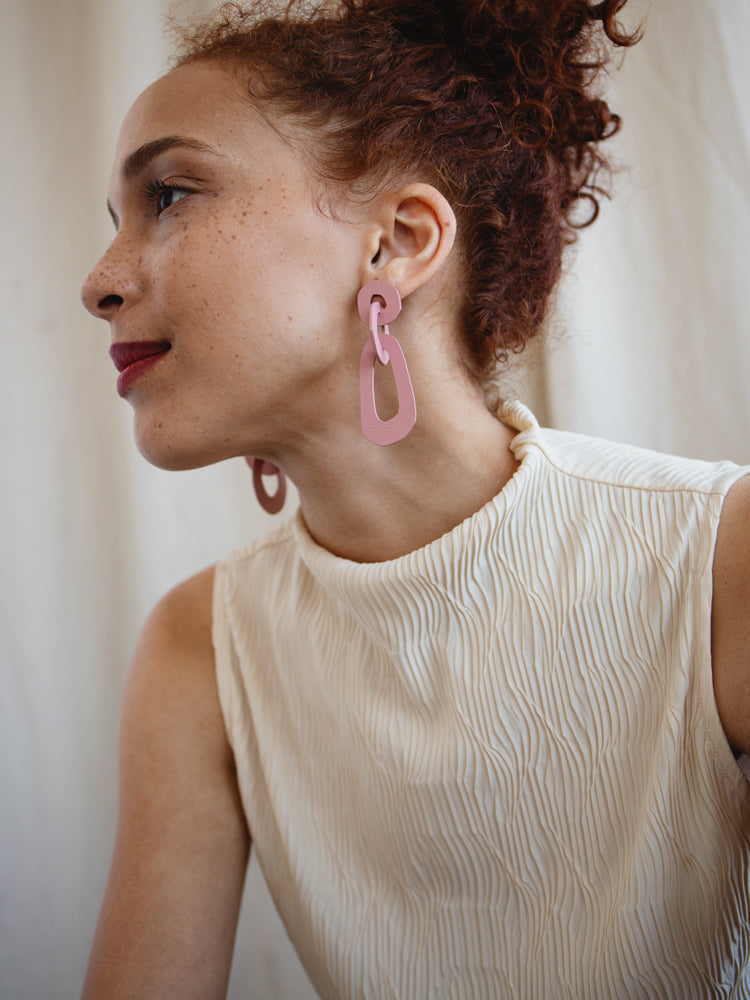 Margot Earrings in Rose