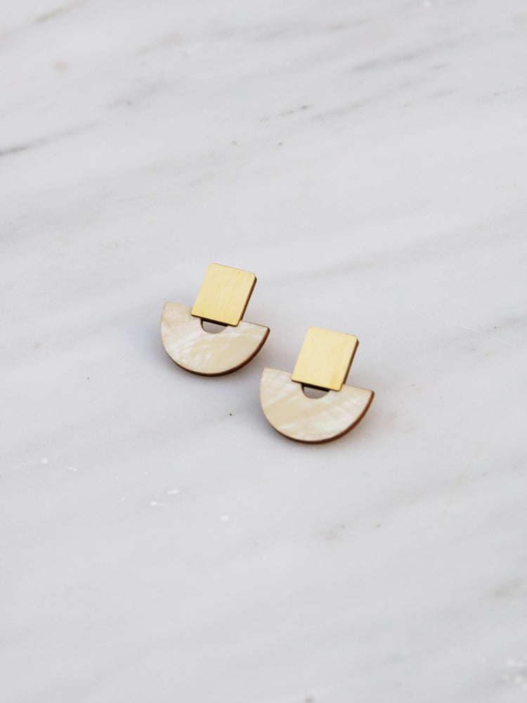 Marina Studs in Mother of Pearl