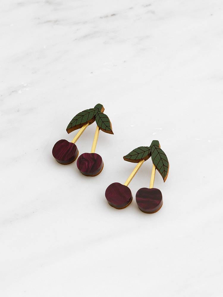 Mini Cherry Earrings
