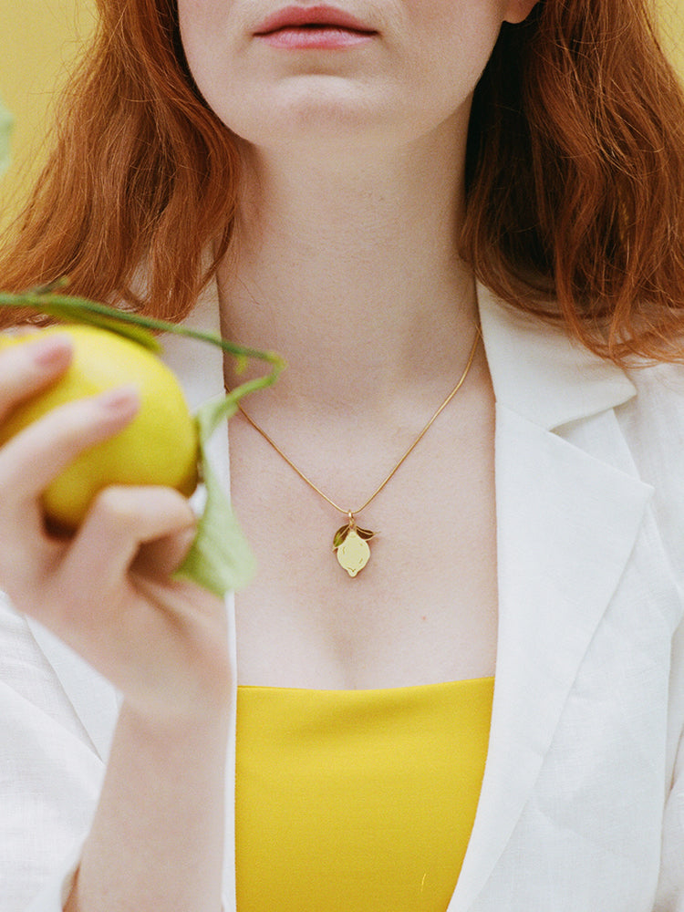 Mini Lemon Necklace