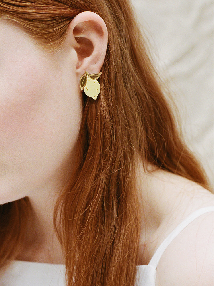 Mini Lemon Studs - Clip-on