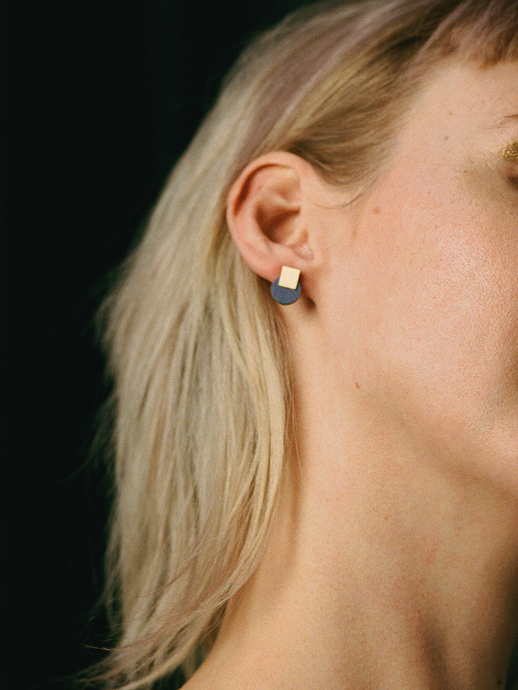 Mini Sol Studs | Original statement earrings handmade by Wolf & Moon
