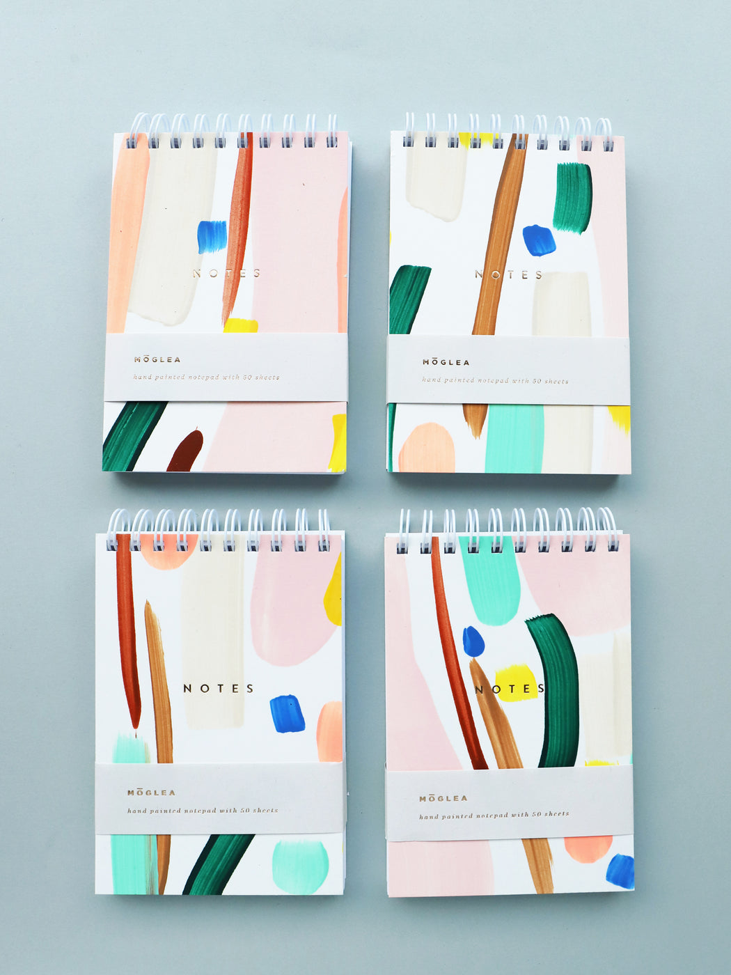 "Colour Party Hand Painted Mini Notebook (3.5x5"")"