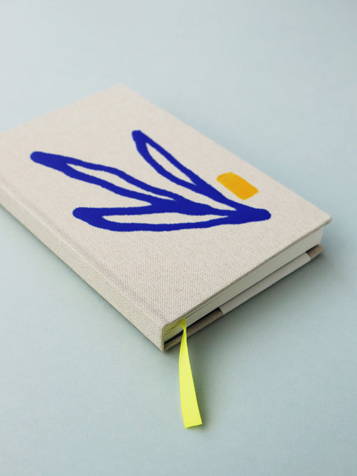 "Leaf Cloth Covered Notebook (4x6"")"