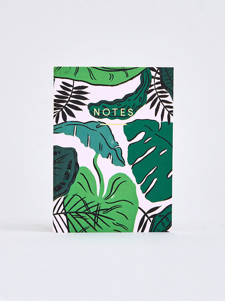 Tropical Leaves Notebook (A6)