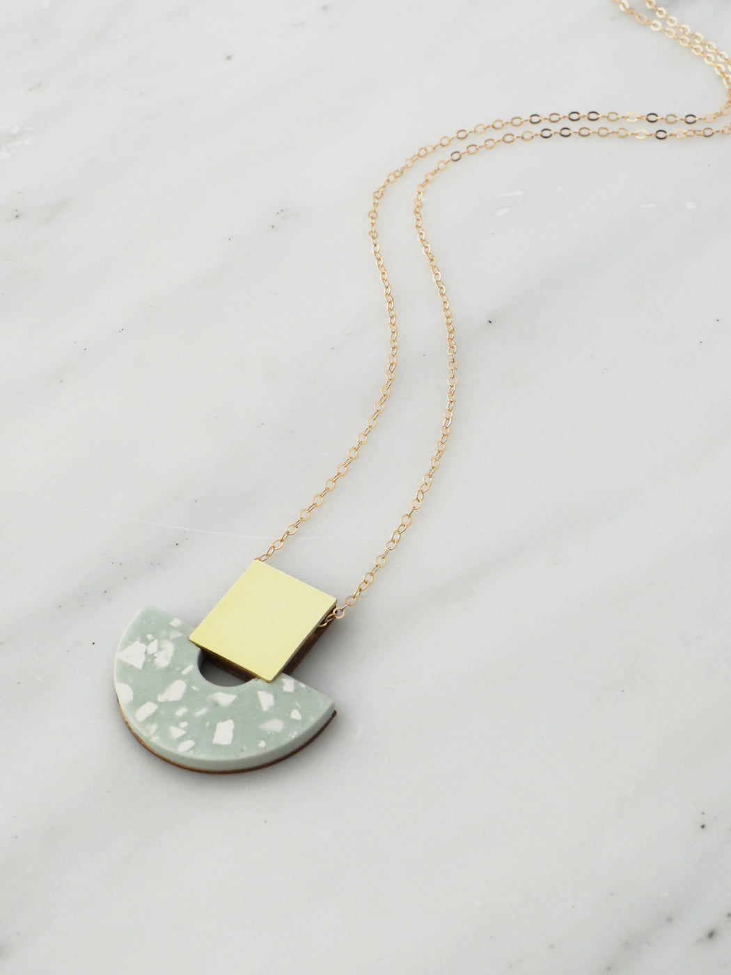 Jesmonite Terrazzo | Hand-cast jewellery | Handmade in North London.