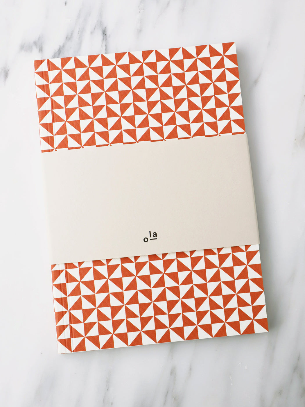 A5 Notebook in Brick Red Kaffe Print