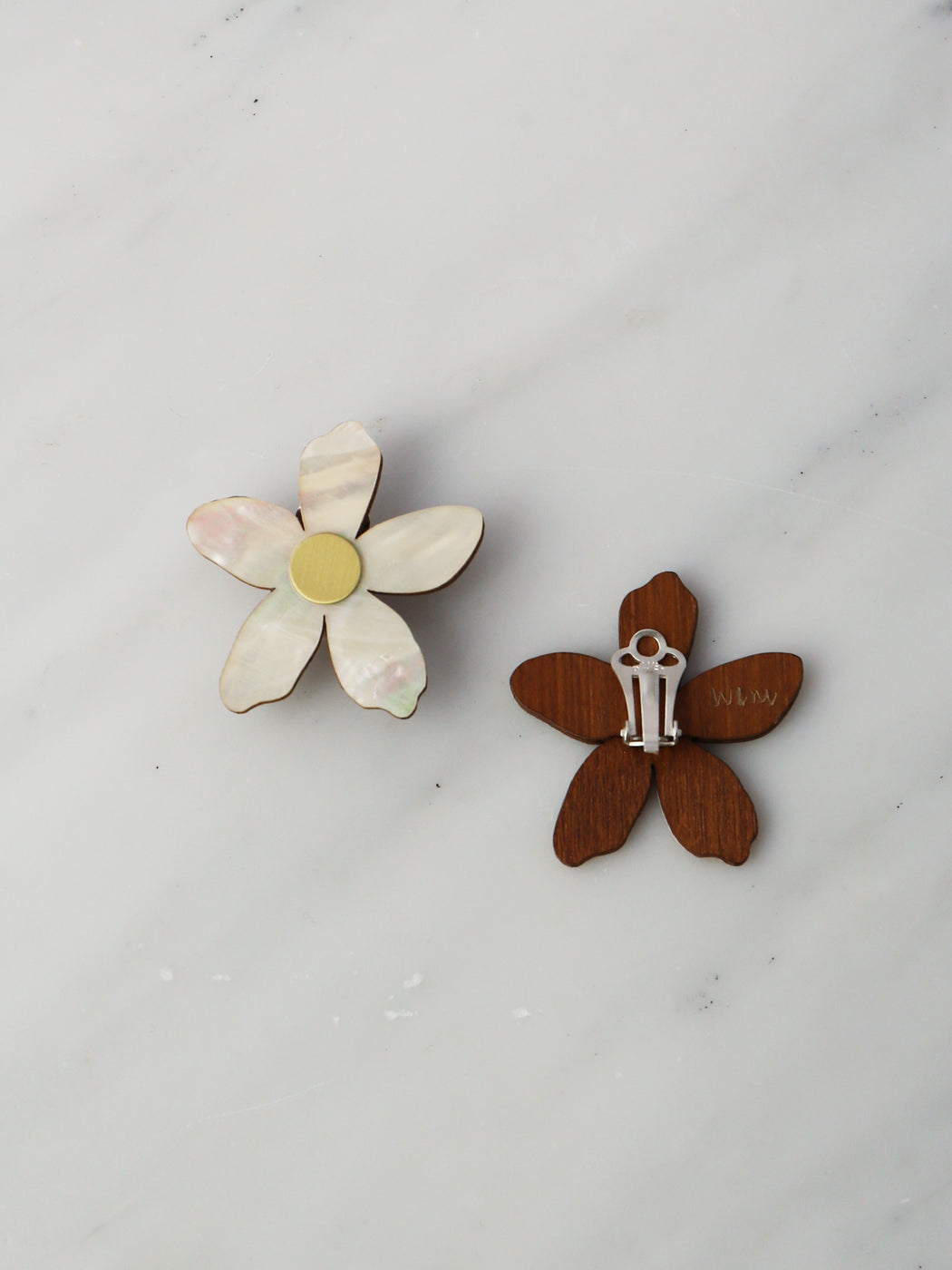 Orange Blossom Earrings - Clip-on