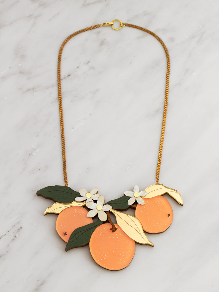 Orange Orchard Necklace