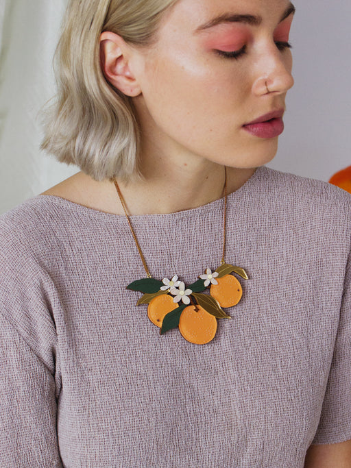 Make at Home Kit - Orange Orchard Necklace