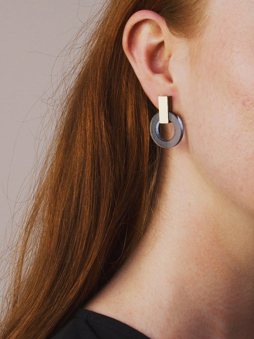 Orbit Earrings in Navy