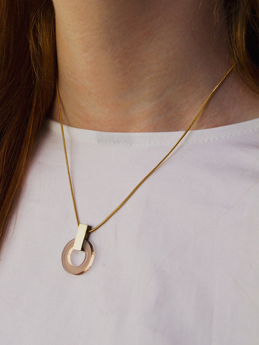 Orbit Necklace in Caramel