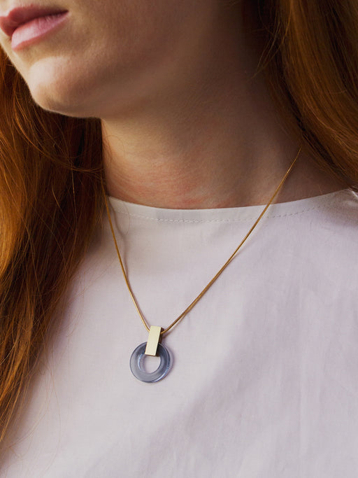Orbit Necklace in Navy