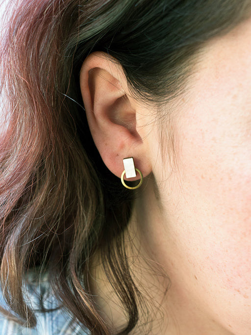 Orbit Studs in Mother of Pearl