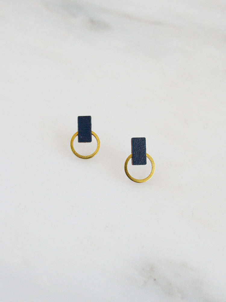 Orbit Studs in Midnight Blue