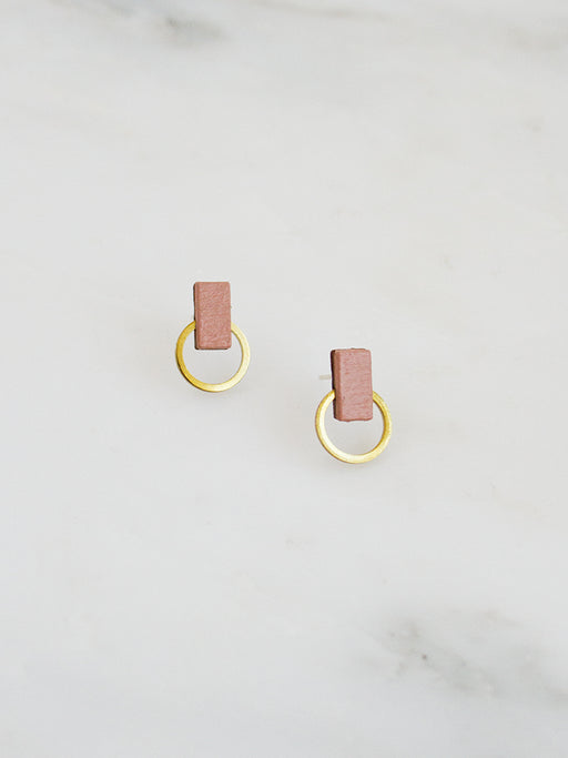 Orbit Studs in Blush