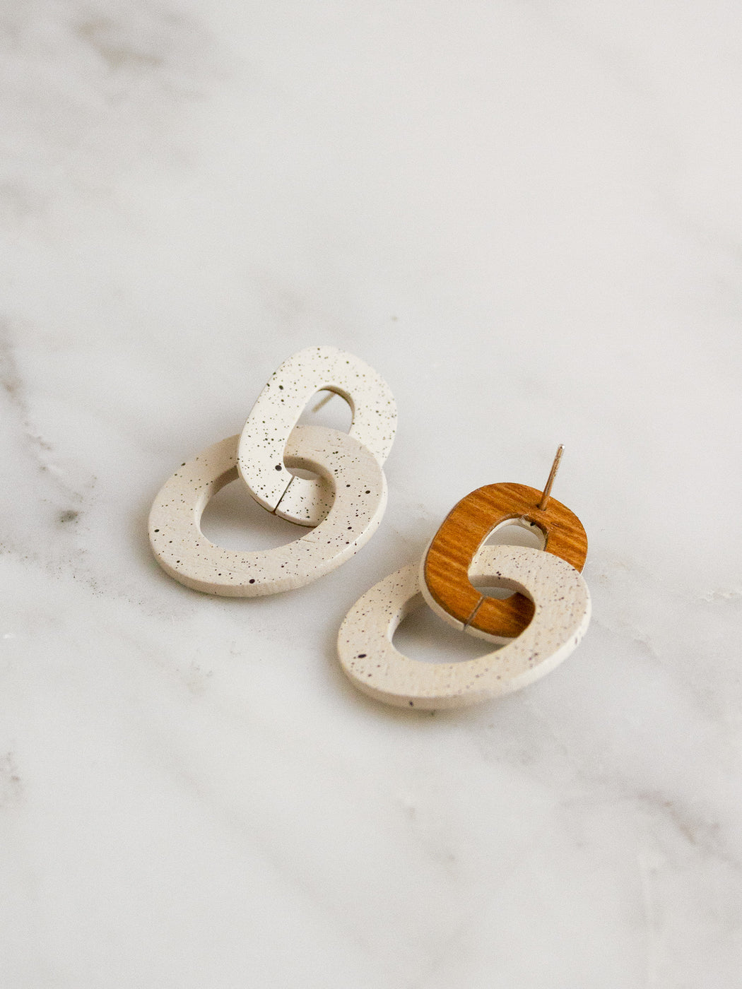 Orla I Earrings in Eggshell