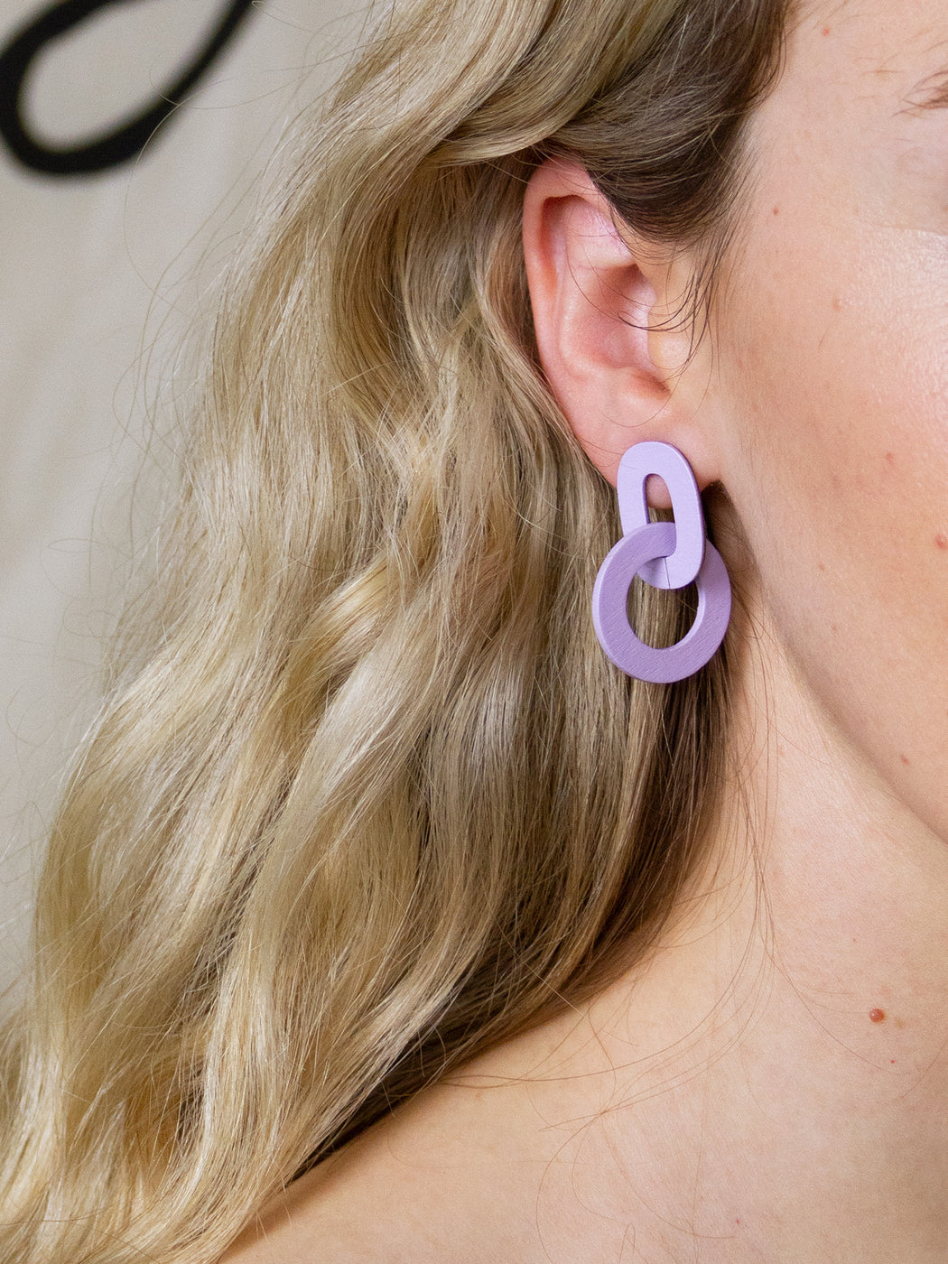 Orla I Earrings in Lilac