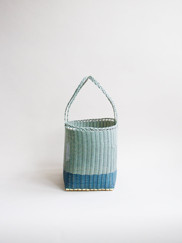 Small Basket Bag - Eucalyptus/Blue