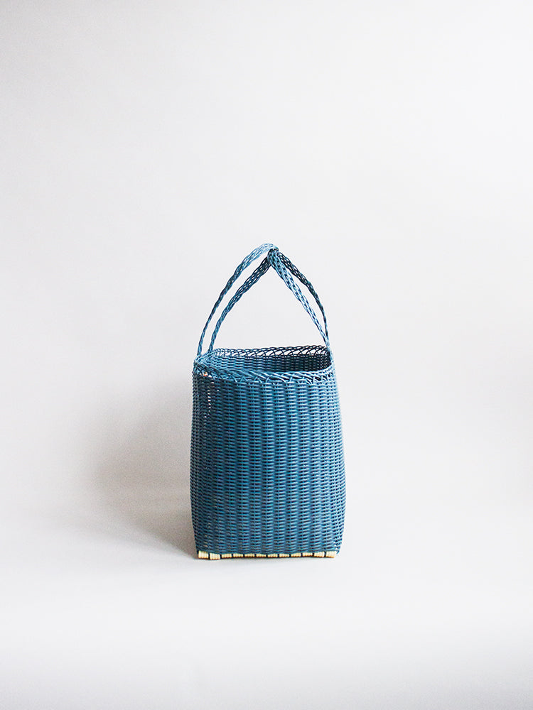 Small Basket Bag - Blue