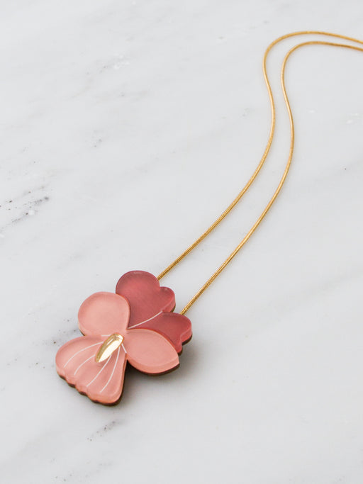 Pansy Necklace in Dark Coral *Limited Edition*