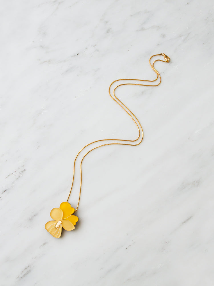Pansy Necklace in Yellow *Limited Edition*