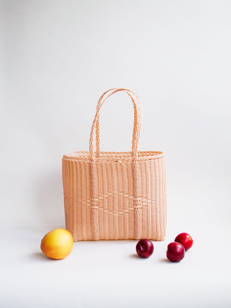 Medium Basket Bag - Peach