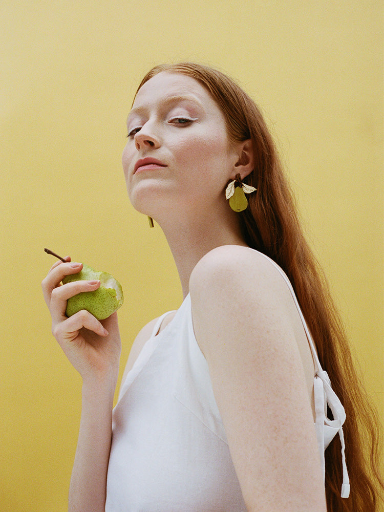 Pear Earrings | Original statement jewellery by Wolf & Moon