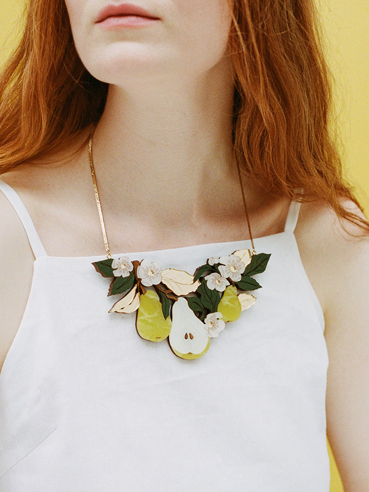 Pear Tree Necklace | Original handmade statement jewellery by Wolf & Moon