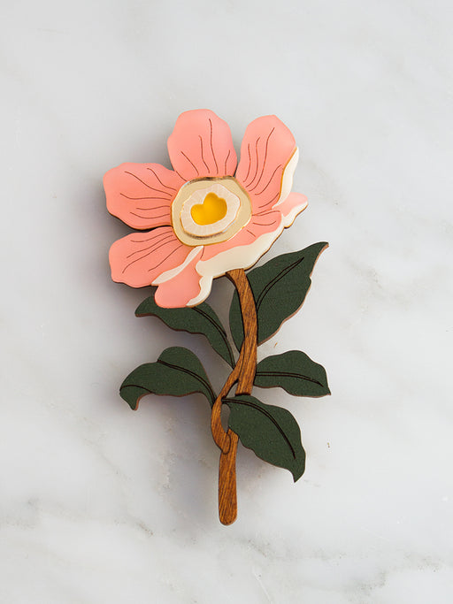 Peony Brooch | Original handmade statement jewellery by Wolf & Moon