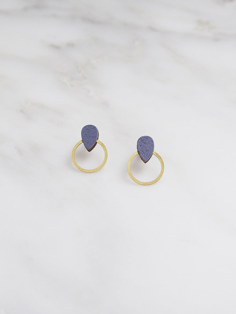 Rain Hoop Studs | Original statement earrings handmade by Wolf & Moon