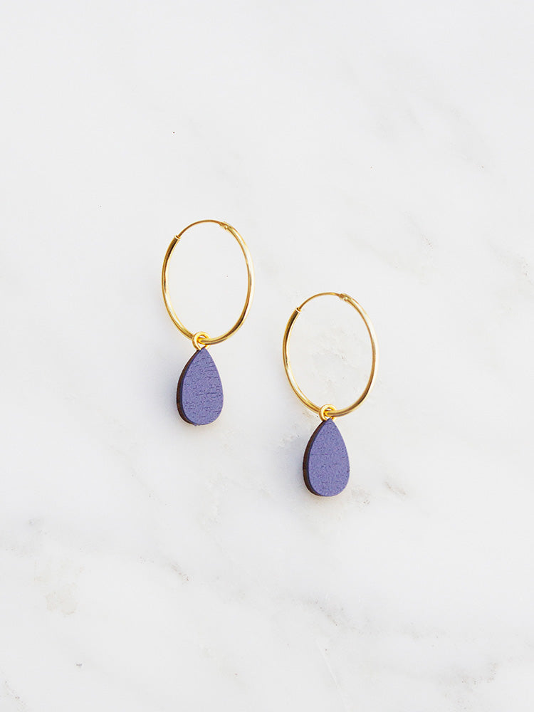 Raindrop Hoops | Original statement earrings handmade by Wolf & Moon
