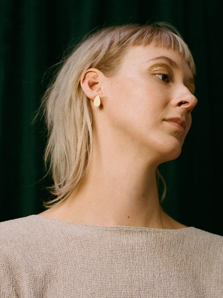 Raindrop Studs | Original statement earrings handmade by Wolf & Moon